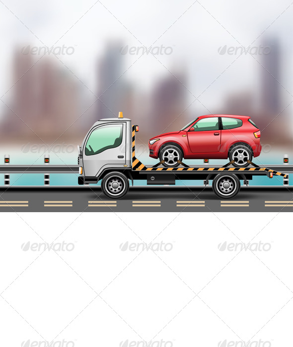 GraphicRiver Tow Truck with Car 8778654