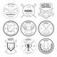 Set of Vintage baseball labels and badges - GraphicRiver Item for Sale