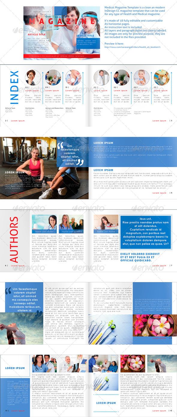 GraphicRiver Medical Magazine Horizontal A5 Template 8778685