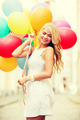 woman with colorful balloons - PhotoDune Item for Sale