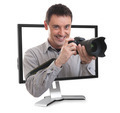photographer in the computer monitor - PhotoDune Item for Sale