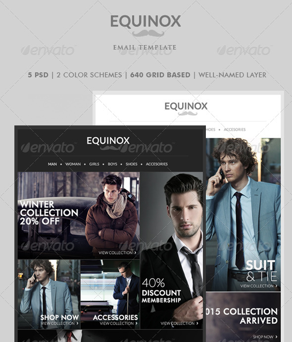 GraphicRiver Equinox Newsletter Template 8730391