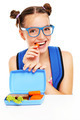 Schoolgirl eating healthy lunch - PhotoDune Item for Sale