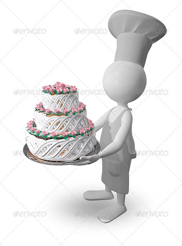 GraphicRiver Chef with Cake 8779182