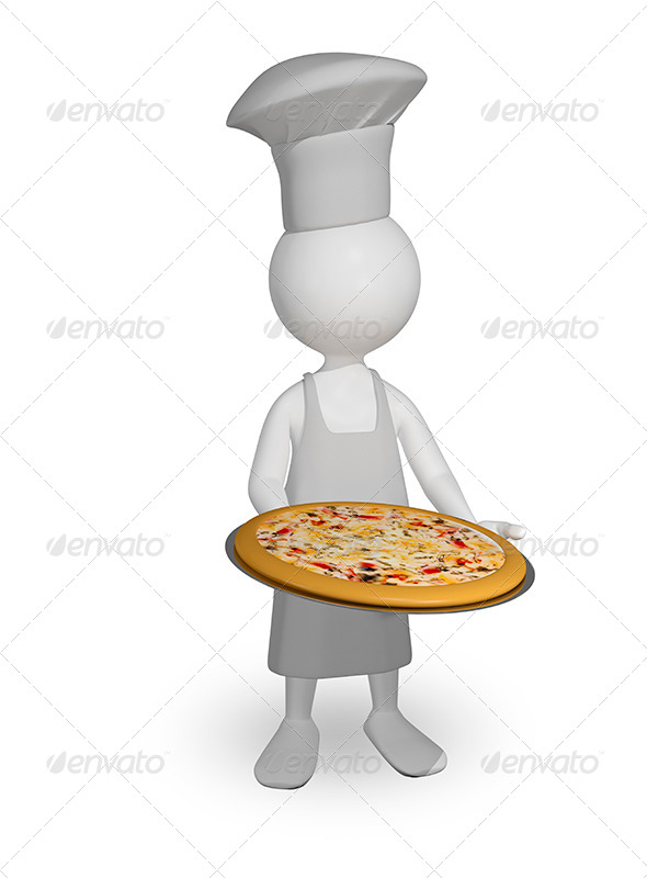 GraphicRiver Chef with Pizza 8779362