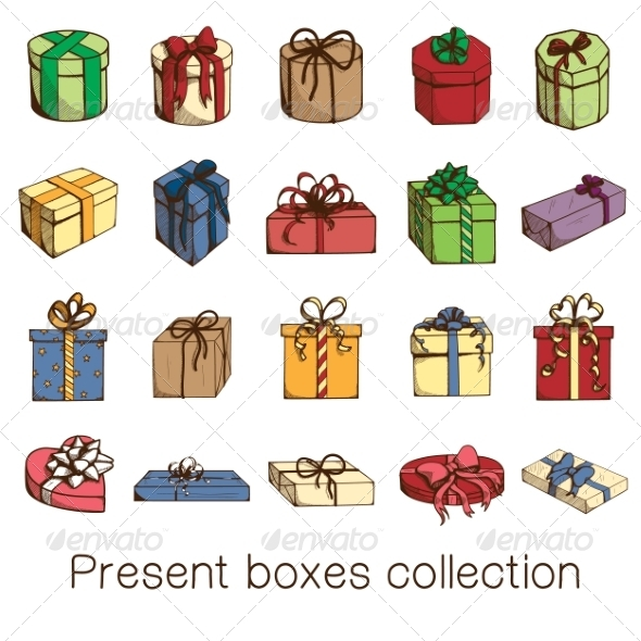 GraphicRiver Present Boxes Collection 8779368