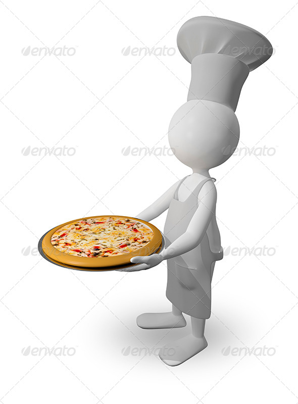 GraphicRiver Chef with Pizza 8779374