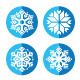 Snowflakes Round Blue Icon Set - GraphicRiver Item for Sale