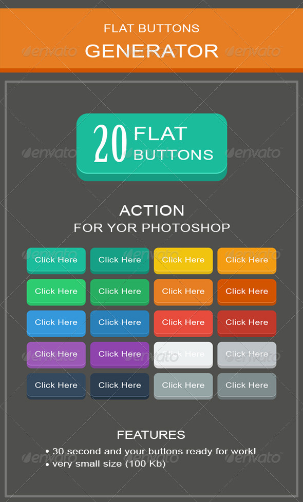 GraphicRiver Flat Buttons Generator 8779704