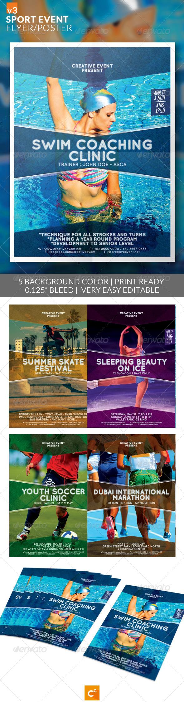 GraphicRiver Sport Event Flyer Poster v3 8779748