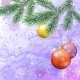 Christmas Spruce Fir Tree with Ornaments - GraphicRiver Item for Sale
