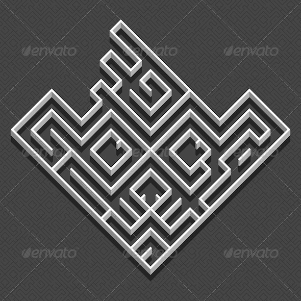 GraphicRiver Labyrinth Animal Face 8780457