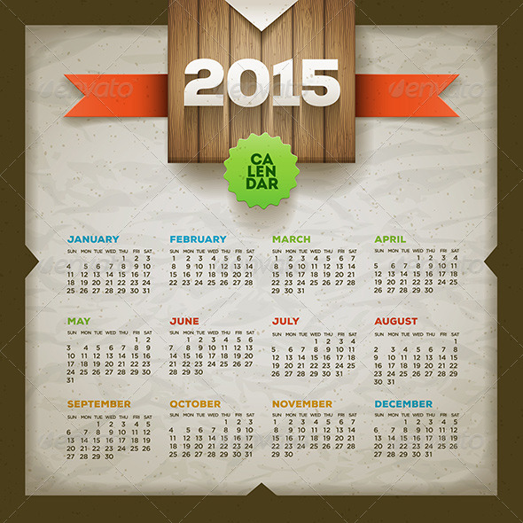 GraphicRiver Calendar 2015 8780807