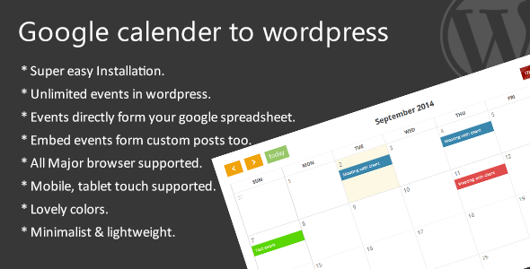 CodeCanyon Google calendar to wordpress 8780818