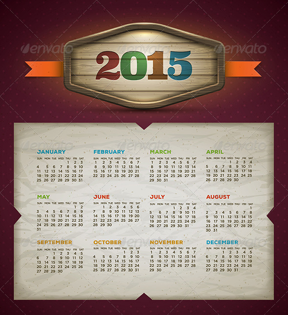 GraphicRiver Calendar 2015 8780826