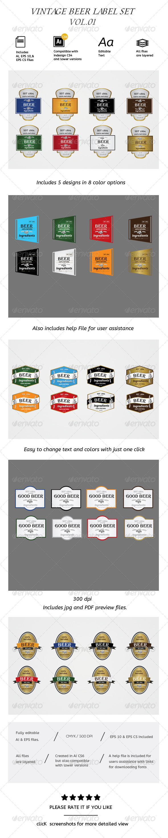 GraphicRiver Vintage Label Vol.01 Badges 7088717
