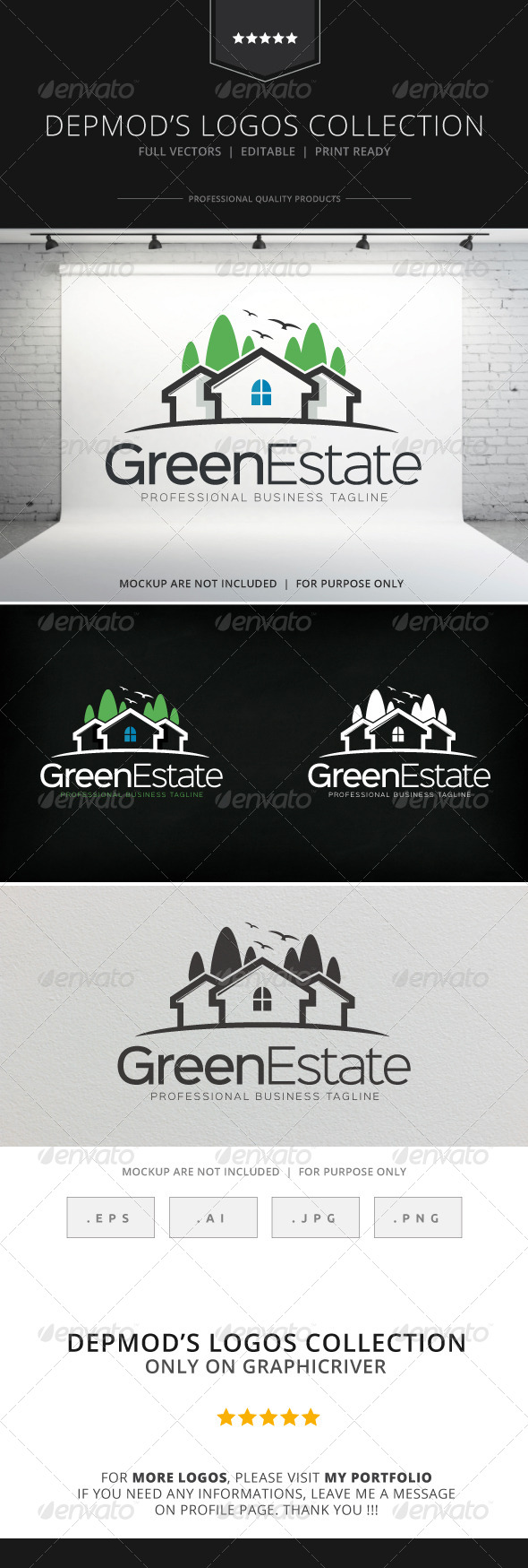 GraphicRiver Green Estate Logo 8780995