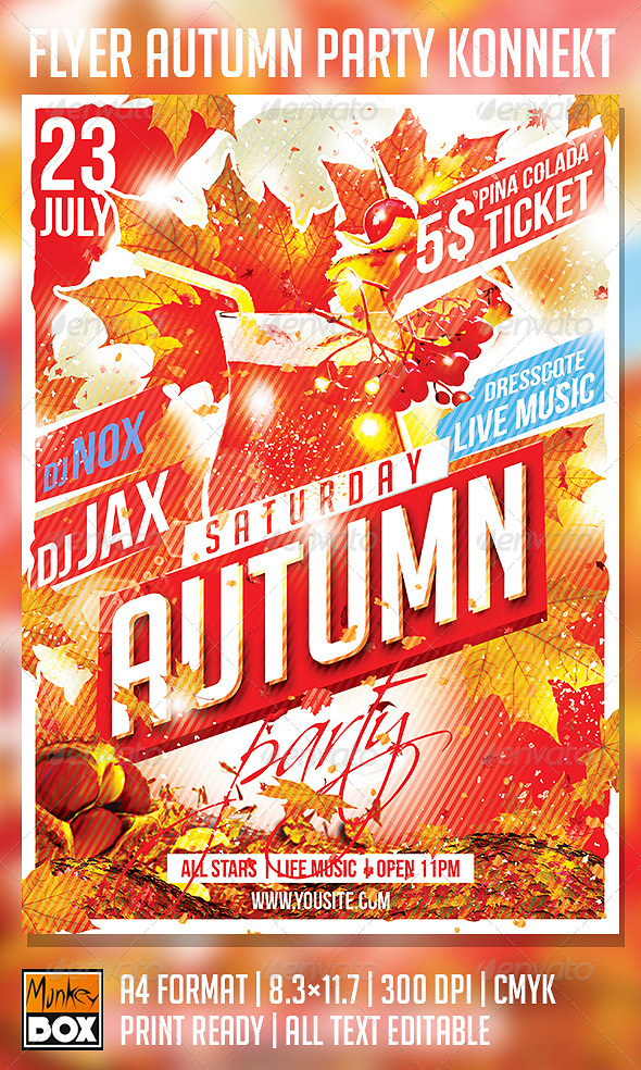 GraphicRiver Flyer Autumn Party Konnekt 8781075