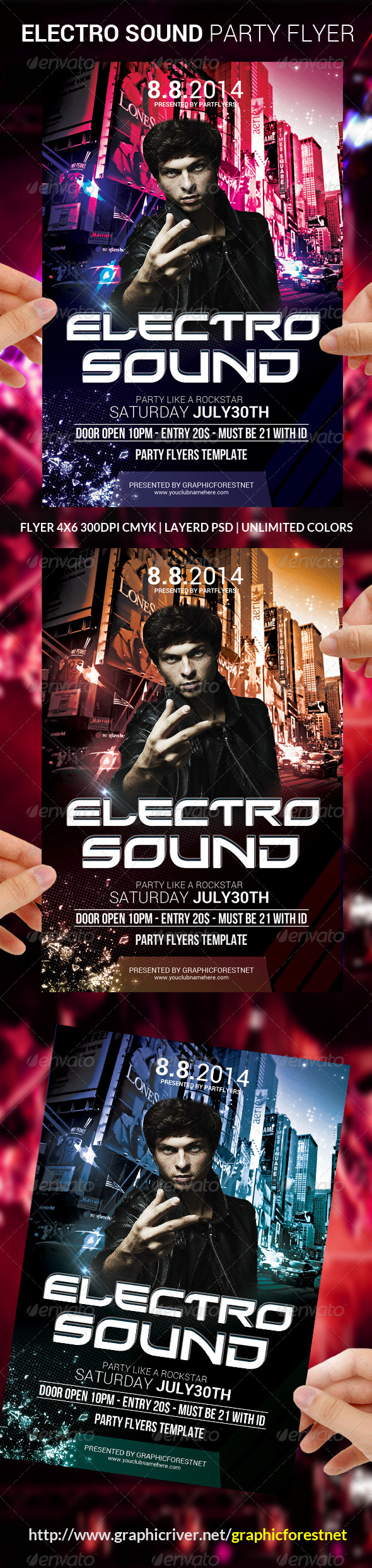 GraphicRiver Electro Sound Flyer Template 8781078