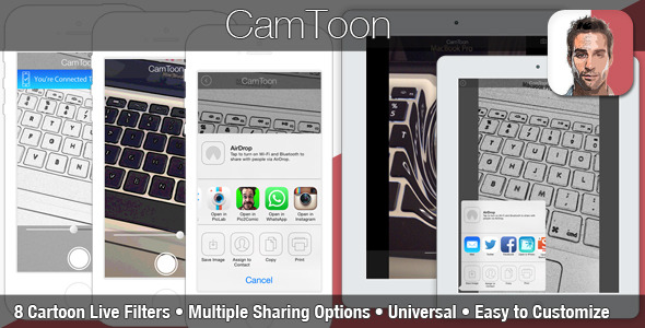 CodeCanyon CamToon iOS Cartoon Photo Editor App Template 8781204