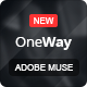 OneWay - Adobe Muse Template - ThemeForest Item for Sale