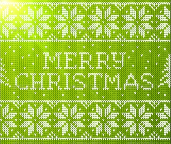 GraphicRiver Merry Christmas Knitted Pattern 8781723