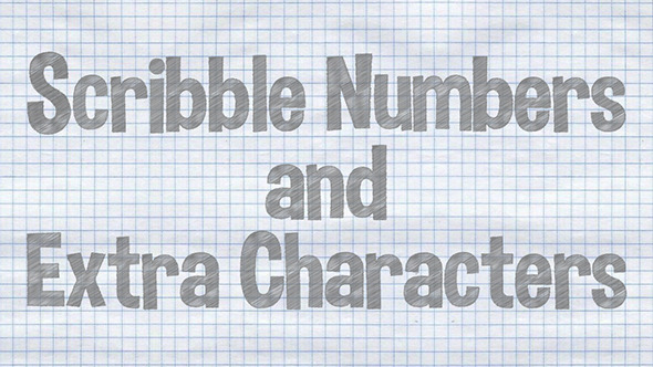 Scribble Numbers and Extra Characters
