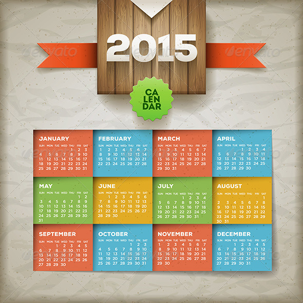 GraphicRiver Calendar 2015 8781743