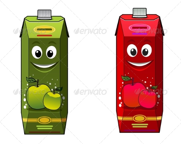 GraphicRiver Cartoon Apple Juice Packages 8781917