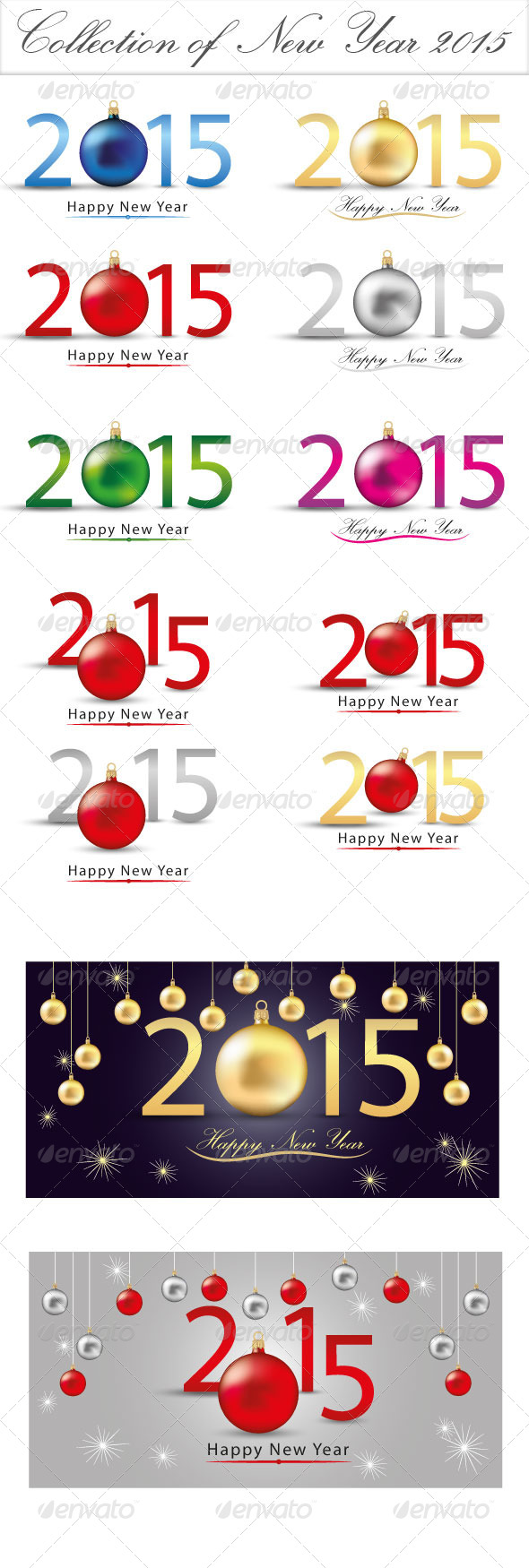 GraphicRiver Collection of New Year 2015 8771454