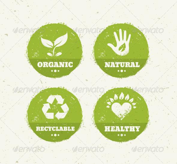 GraphicRiver Organic Green Circle Creative Vector Icons 8782044