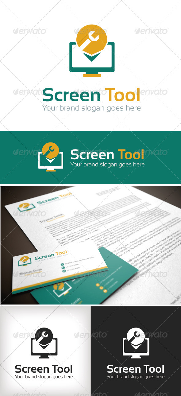 GraphicRiver Screen Tool Logo Template 8782047