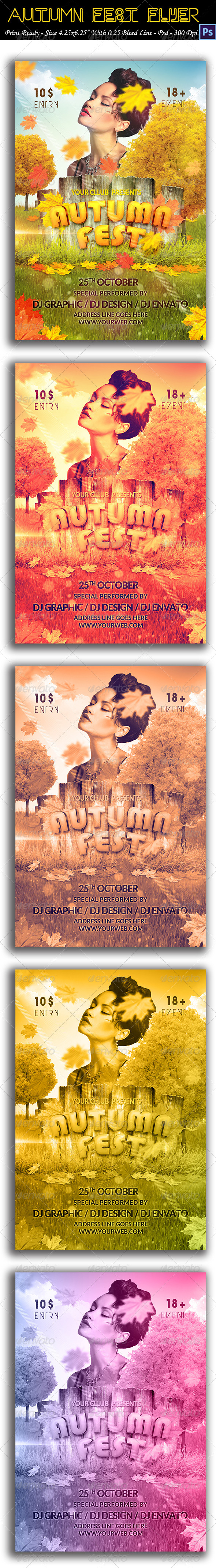 GraphicRiver Autumn Fest Flyer 8725802