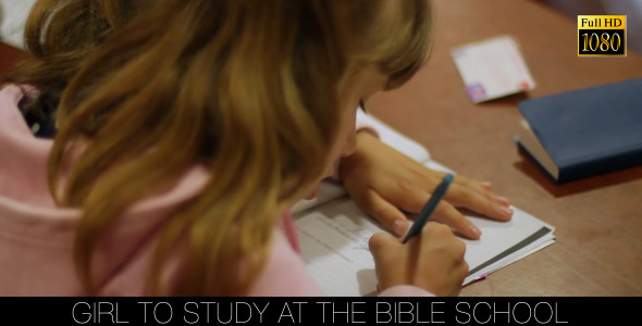 Girl To Study At The Bible School