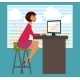 Workplace, Office Desk - GraphicRiver Item for Sale