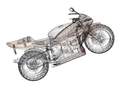 Concept 3D model of a sports bike - PhotoDune Item for Sale