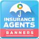 Insurance Agent Banner Design Set - GraphicRiver Item for Sale