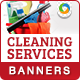 Cleaning Service Banner Design Set - GraphicRiver Item for Sale