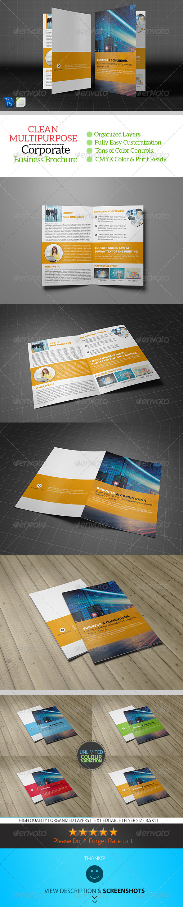GraphicRiver Bifold Business Brochure Template Vol07 8782702