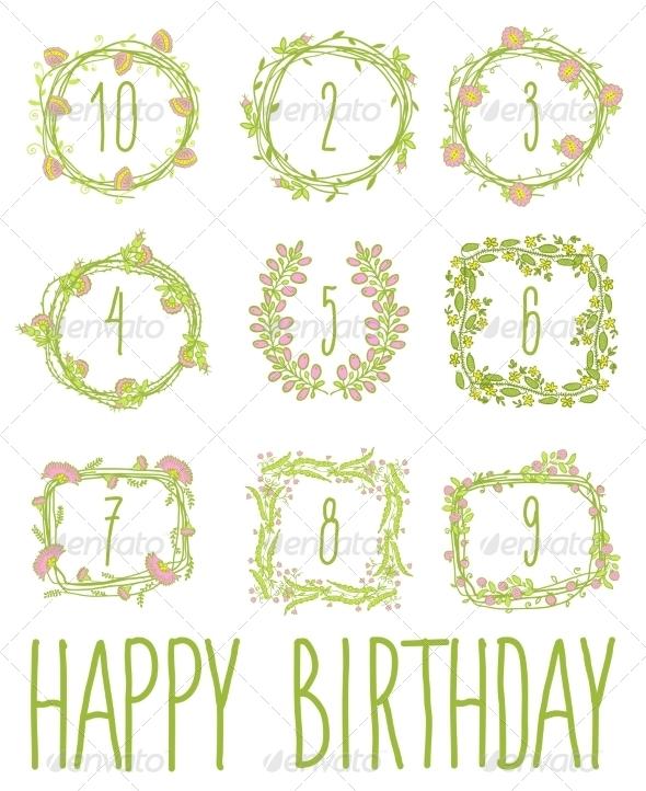 GraphicRiver Happy Birthday Card Invitation with Set 8782773