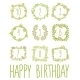 Happy Birthday Card Invitation with Set  - GraphicRiver Item for Sale