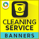 Banner Design for Cleaning Company - GraphicRiver Item for Sale