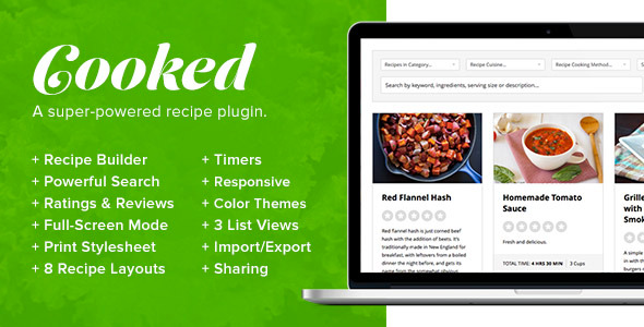 CodeCanyon Cooked A Super-Powered Recipe Plugin 8782812