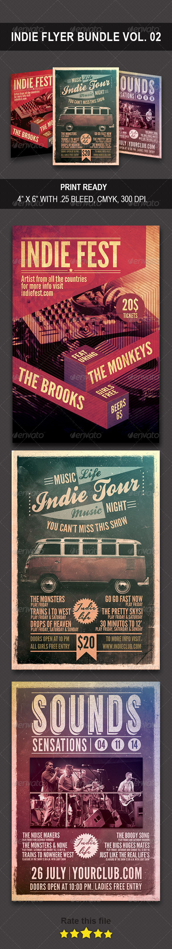 GraphicRiver Indie Bundle Flyer Vol 0.2 8772111