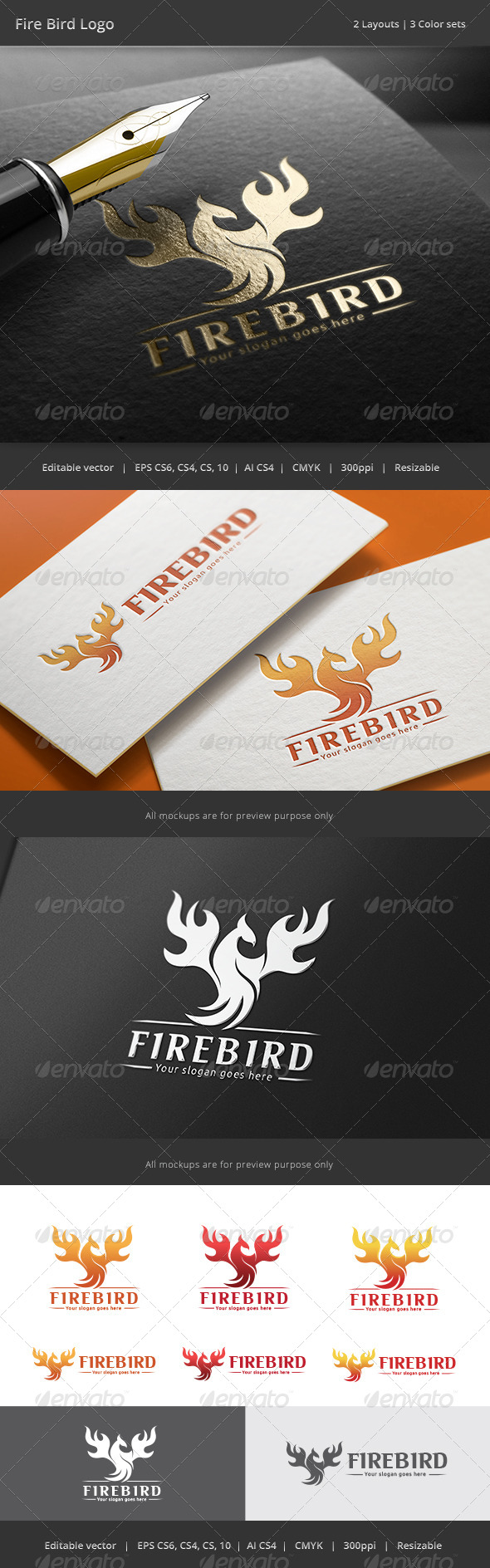GraphicRiver Fire Bird Logo 8782844