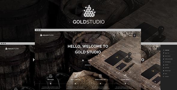 ThemeForest Gold Creative PSD Template 8782910