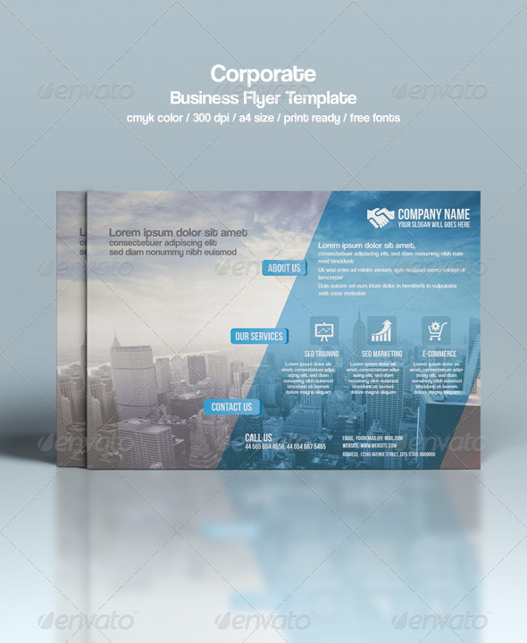 GraphicRiver Corporate Flyer Template 8778889
