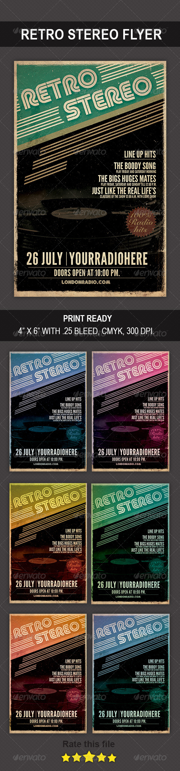 GraphicRiver Retro Stereo Flyer 8771722