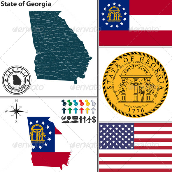 GraphicRiver Map of State Georgia USA 8782937