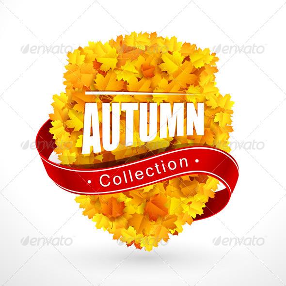 GraphicRiver Autumn Label 8783085